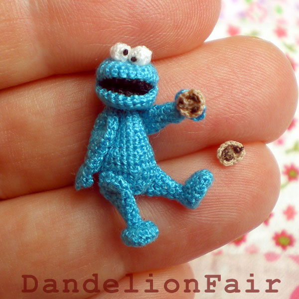 Blue Monster - Miniature Crocheted Plush Toy